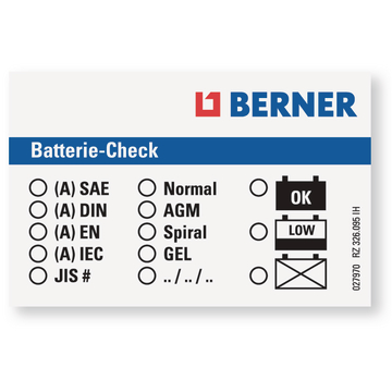 Etiquette test batterie (25 pcs)